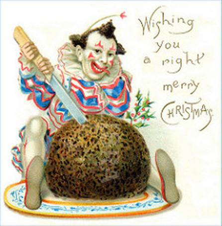 Clown Christmas Card
