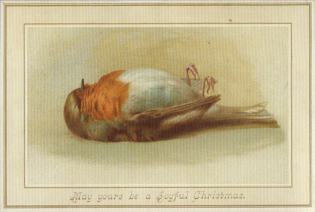 Dead Bird Christmas Card
